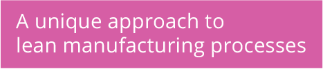 A unique approach to lean manufacturing processes